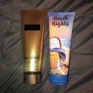 Victoria's Secret and Bath and Body Works lotions